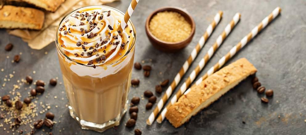 Vanille ijskoffie met medische drinkvoeding