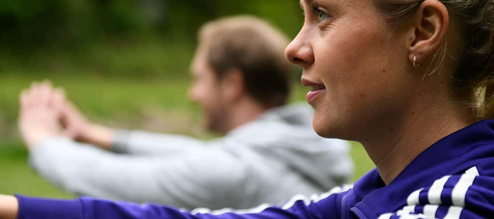 Sporten in het bos