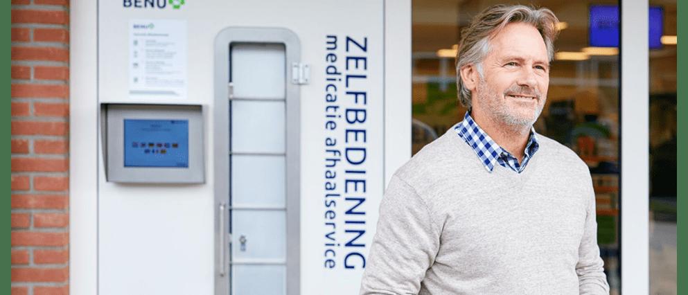 Moeder en dochter hebben medicijnen opgehaald bij de afhaalautomaat van BENU.