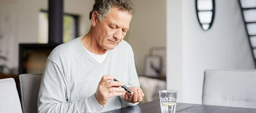 Man met diabetespen