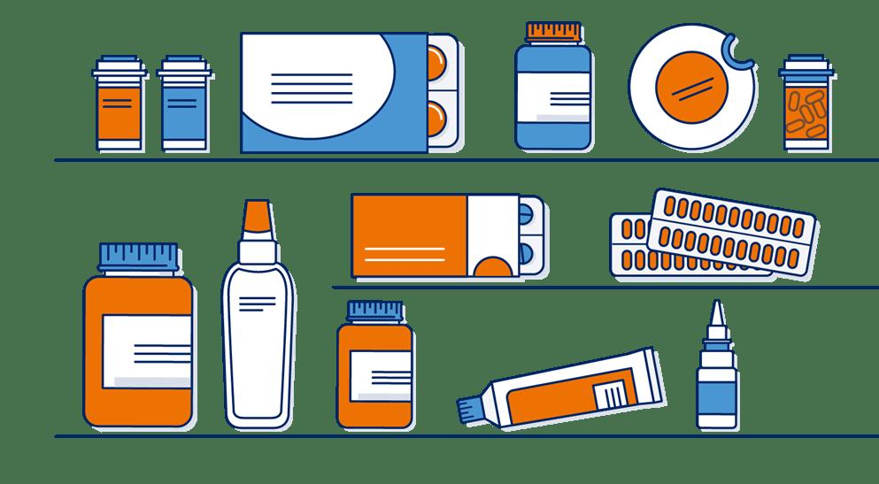 Illustratie van een medicijnkastje