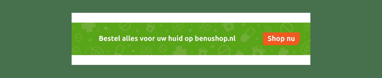 BENU Shop alles voor uw huid banner - shop nu
